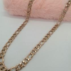 Αλυσίδα ατσάλινη ροζ-χρυσό No2