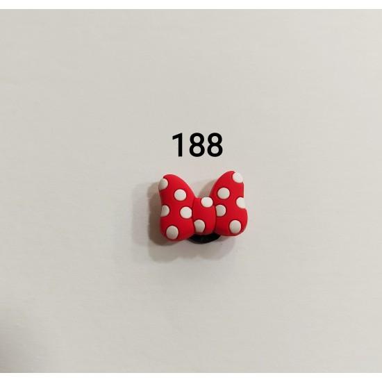 Jibbitz φιογκάκι κόκκινο No188