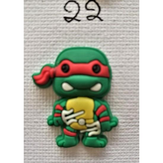 Jibbitz Ninja Turtles red No22