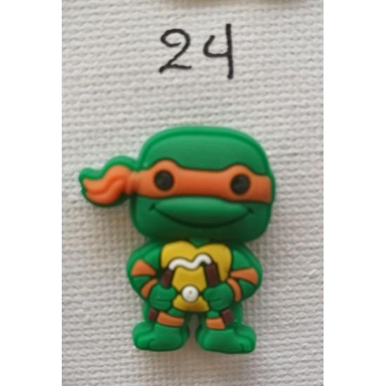 Jibbitz Ninja Turtles orange No24