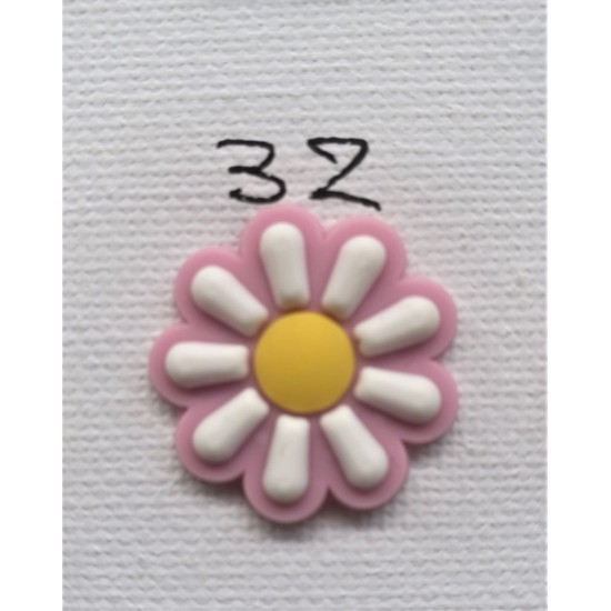 Jibbitz Λουλούδι Λευκό Νο32
