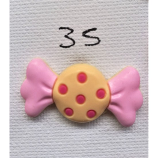 Jibbitz Καραμέλα εκρού-ροζ Νο35