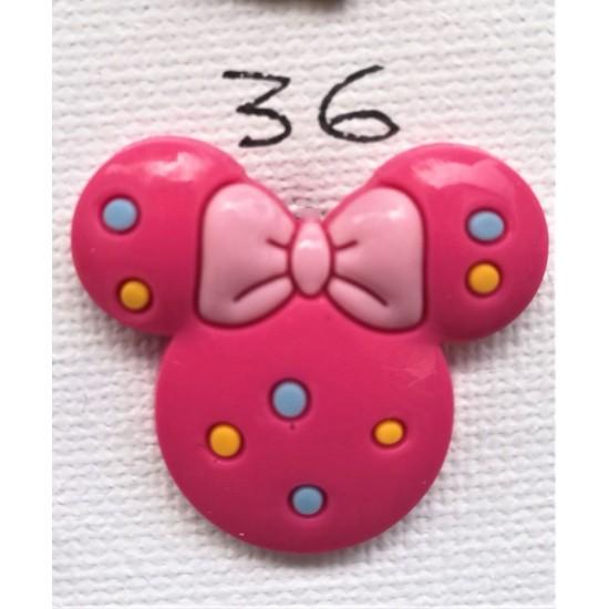 Jibbitz Κεφάλι Minnie φούξια Νο36
