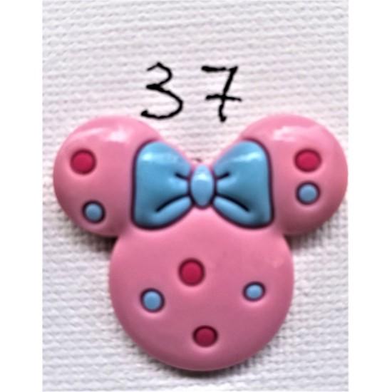 Jibbitz Κεφάλι Minnie ροζ Νο37