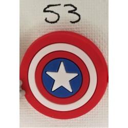 Jibbitz ασπίδα Captain America Νο53