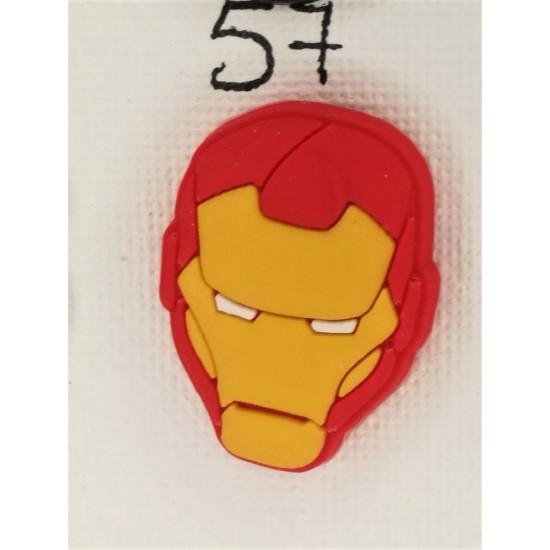Jibbitz κεφάλι Ironman Νο57
