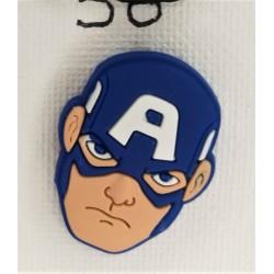 Jibbitz κεφάλι Captain America Νο58
