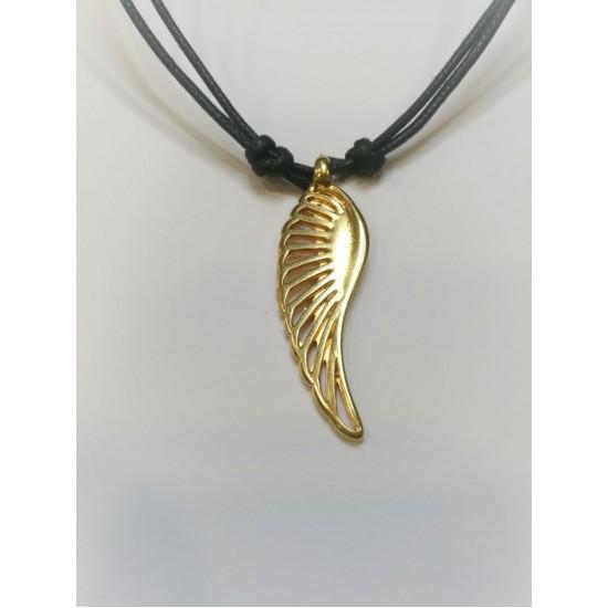 Κολιέ κορδόνι φτερό αγγέλου