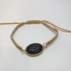 Βραχιόλι μακραμέ πέτρα λάβα