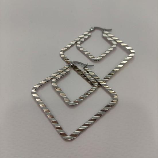 Κρίκοι ατσάλι διπλοί τετράγωνοι μεγάλοι