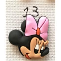 Jibbitz Minnie κεφάλι ροζ φιόγκος No13