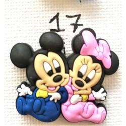 Jibbitz Minnie-Mickey babies No17